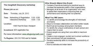 Insights Workshop - motivating your team